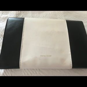 Black and white Ivanka Trump clutch